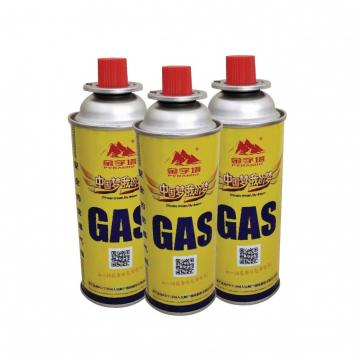 Customers Requirement Round Shape Portable butane gas cartridge can for portable gas stove